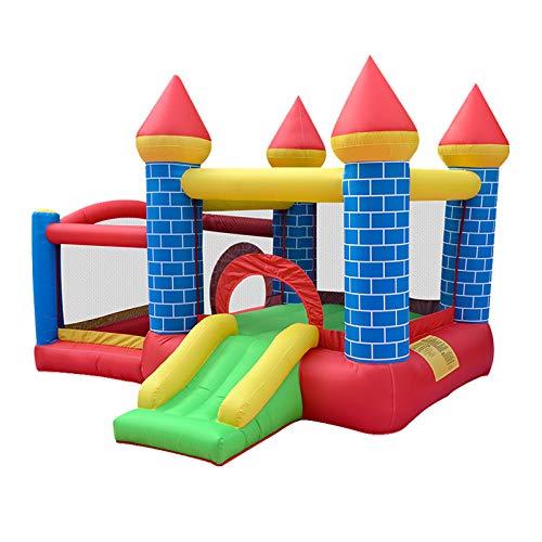 WANGZI Castillo inflable al aire libre, casa grande de despedida de los niños con soplador inflable diapositiva de la piscina para el jardín de verano