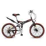 Grimk Bicicleta Btt 22' Mountain Bike Plegable Unisex Adulto Aluminio Urban Bici...