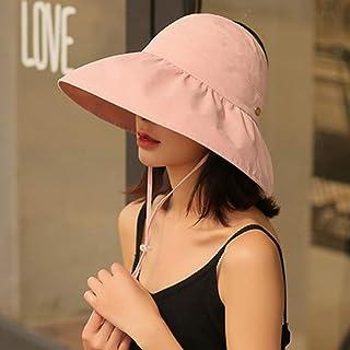 WN - Sombrero - Visera de verano para mujer Playa plegable Playa plegable Superior Sombrero para el sol Sombrero de pescador Sombrero para el sol de viaje al aire libre (3 colores) Sombrero para mujer