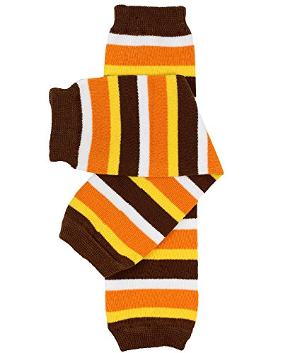 Halloween baby & toddler Leg Warmers for Girls & Boys in various styles (Newborn (up to 12 pounds), Thanksgiving Stripe)