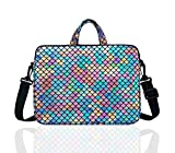 14-Inch Laptop Shoulder Carrying Bag Case Sleeve For 13' 13.3' 14 inch Macbook/Notebook/Ultrabook/Chromebook, Mermaid Scale (Colorful)