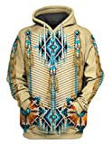Turquoise Blue Pattern Breastplate 3D All Over Printed Pullover Hoodie, T-Shirt, Zip Hoodie, Sweatshirt, Hawaiian Shirt, Polo T-Shirt, Tank Top for Men and Women