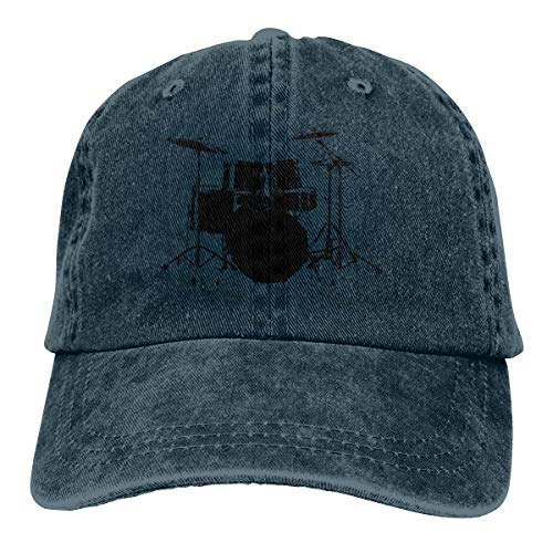 Skilltory Rock N Roll Drums Casquette Classic Baseball Cap Adults Unisex Adjustable Original Custom Made Snapback Hat Cotton Navy One Size