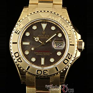 Rolex 18k Yellow Gold Yachtmaster Model 16628 White Dial image