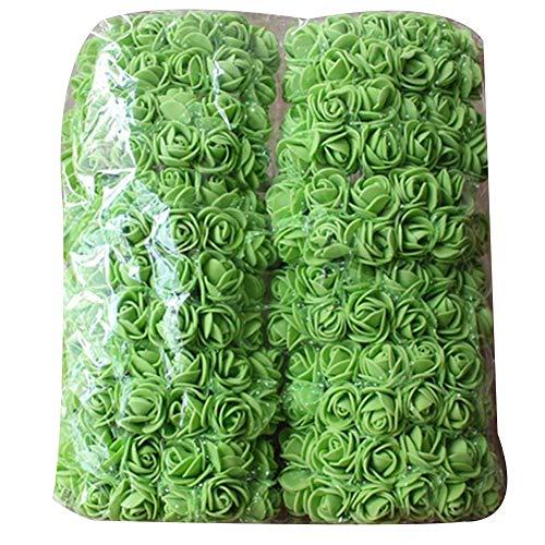 Lsgepavilion Künstliche Rosen, einfarbig, romantische Schaumstoffrosen zum Selbermachen, Hochzeit, Party, Dekoration, Grün, 144 Stück