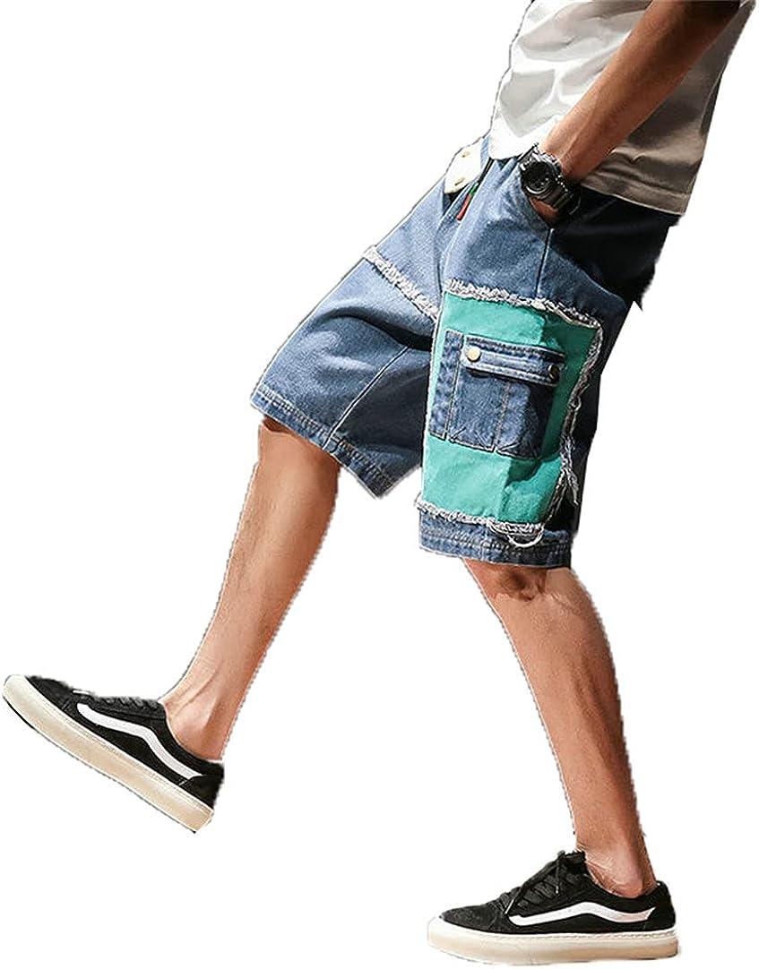 Kevents Summer Mens Jeans Shorts Multi-Pocket Casual Hip Hop Men Short Pants Streetwear Mens Military Shorts