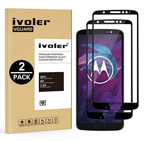 ivoler [2 Stücke] Panzerglas Schutzfolie für Motorola Moto G6 Plus, [Volle Bedeckung] Panzerglasfolie Folie Hartglas Gehärtetem Glas BildschirmPanzerglas