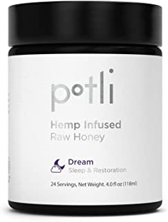 Potli Raw Honey with MCT Oil, 6mg Melatonin, 100mg of PremiumHempOil, Promotes Sleep, Relaxation & Stress Relief, Gluten F...