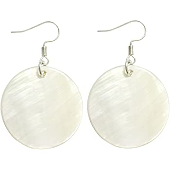 Natural Shell Floral Earrings Round Earrings Female Accessories