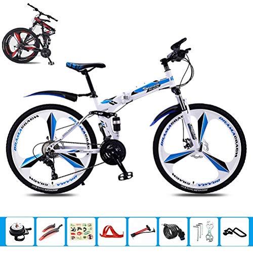 ATRNA 24/26 Inch Folding Mountain Bike, Leicht Klein bewegliches Fahrrad Student Rennrad, Frauen Männer Reise-Außen Justierbarer Fahrrad