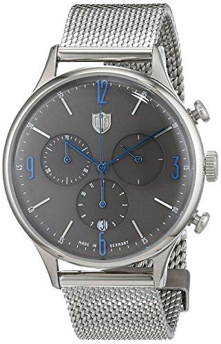 Dufa Deutsche Uhrenfabrik Orologio Cronografo Quarzo Unisex con Cinturino in Acciaio Inox DF-9002-11