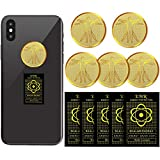 Frienda 10 Pieces Radiation Protection Phone Stickers Anti Radiation EMF Blocker Electronic Devices Radiation Protector Stickers EMF Shield Sticker for Mobile Phones Computers Laptops