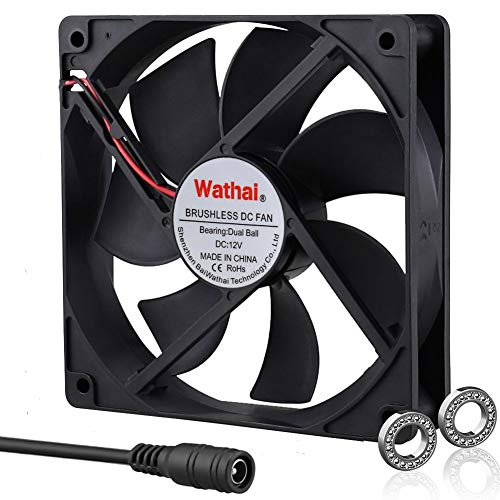 Wathai 120mm x 120mm 25mm 12V Cooling Fan for Cool Xboxs Playtations Rokus TVs receivers mondems routers DVRs Computers and Other Audio Video Electronics Cooling