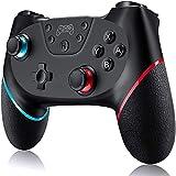 Mando Switch, Mando Inalámbrico para Nintendo Switch/Switch Lite/PC, Mando Nintendo Switch Apoya Vibración, Turbo y Giroscopio con Cable de Carga