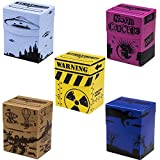 Deluxe Deckbox Multipack with Dividers - Set of 5 Customized Extra Large Deck Boxes for Trading Card Game & Collectible Storage - Includes Plastic Dividers, Fits 90+ Sleeved Cards