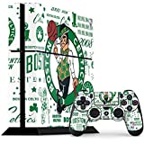 Skinit Decal Gaming Skin Compatible with PS4 Console and Controller Bundle - Officially Licensed NBA Boston Celtics Historic Blast Design