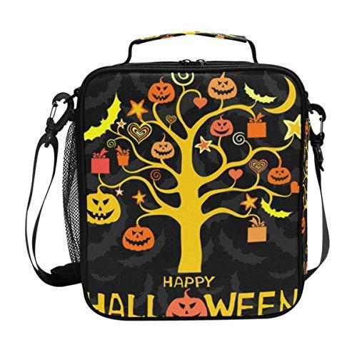Zucca di Halloween Boo Pranzo al sacco Borsa da picnic Borsa termica per alimenti isolata per bambini Ragazza Ragazzo Donna Donna Uomo