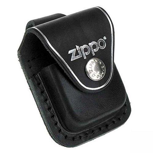 Original Zippo Bag, Schwarze Ledertasche - Gürteltasche