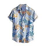 Hawaiihemd für Herren im Frühjahr/Sommer Funky Hawaiihemd Herren Kurzarm Fronttasche Hawaii-Print...