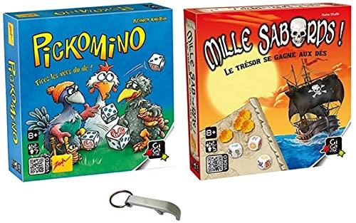Lot 2 Jeux - Pickomino + Mille Sabords + 1 Décapsuleur Blumie