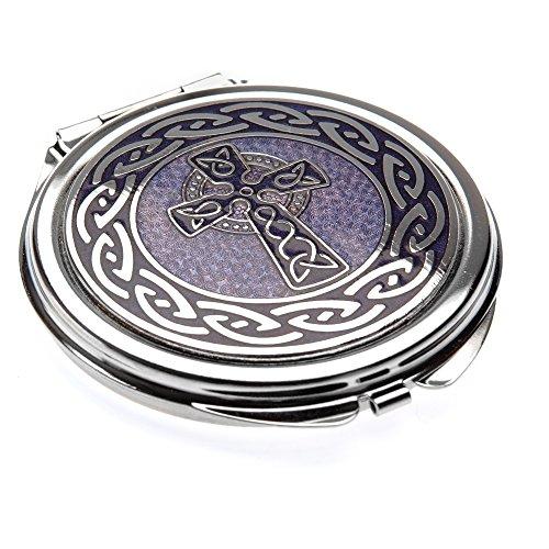 LJ Designs Celtic Cross Enamel Compact Mirror (SG10)