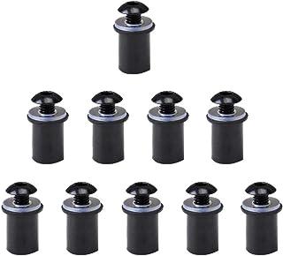 Black Easygo CNC de aluminio Billet anodizado duro 1//4 Tornillos de pulgar del asiento de tornillo para Sportster rey del camino de la calle Dyna Glide Fatbob Camino Glide 96-16 y otros modelos