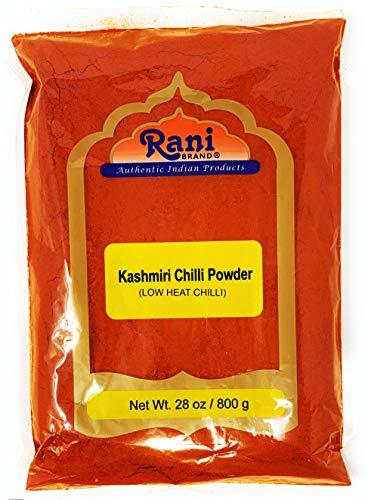 Rani Kashmiri Chilli Powder (Deggi Mirch, Low Heat) Ground Indian Spice 16oz (454g) PET Jar ~ All Natural, Salt-Free | Vegan | No Colors | Gluten Friendly | NON-GMO | Indian Origin