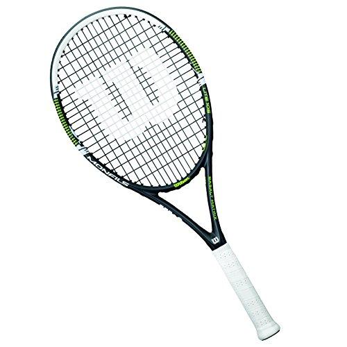 Wilson Raqueta de tenis unisex, Para juegos en todas las áreas, Para jugadores aficionados, Monfils Lite 105, Medida 3, Negro/Verde