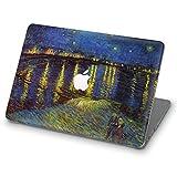 ZVStore Estuche para MacBook Van Gogh Diseño de arte Estuche rígido de plástico con protección para MacBook (Pro Retina 13 (A1502 y A1425), La noche estrellada sobre el Ródano)