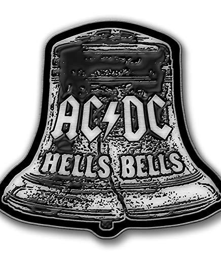 Rz AC/DC Hells Bells Badge en métal en forme de cloches