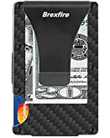 Carbon Fiber Minimalist Wallet RFID Blocking Card Holder Metal Money Clip Cash Strap Mens Wallet Slim Front Pocket Wallets