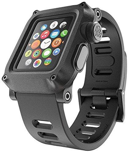 LUNATIK EPIK H20 Waterproof Polycarbonate Case and Silicone Strap for Apple Watch Series 1, Black/Black
