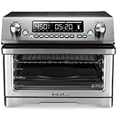 "With this large capacity oven, you can toast 6 pieces of bread at the same time, bake a 12"" pizza, make a cake, or even roast a whole chicken Clear the clutter and free up your counter space with this 11-in-1 multi-function toaster oven and air fryer..."