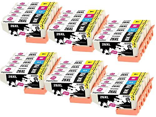 INK INSPIRATION Reemplazo para Epson 26 26XL Multipack 30 Cartuchos de Tinta Compatible con Epson Expression XP-610 XP-620 XP-600 XP-700 XP-605 XP-615 XP-710 XP-520 XP-800 XP-625 XP-720 XP-820 XP-510