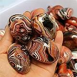 WERWER Cuarzo Natural ágata Liso Piedra Cristal Mineral espécimen artesanía decoración artesanía (Size : 2 3cm)