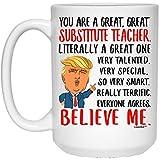 N\A Divertido Diciendo Que Eres un Gran Profesor sustituto Taza de café con Leche
