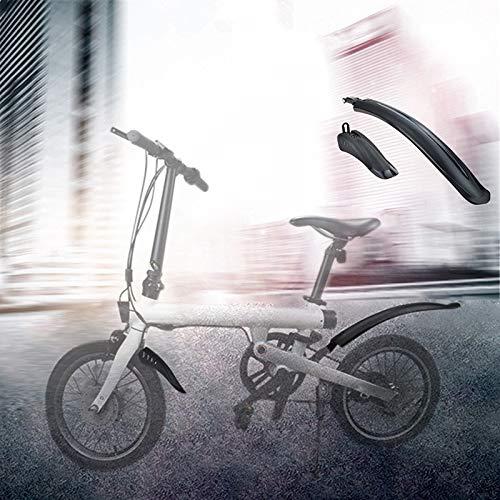 WaWeiY Bici neumático Delantero Splash Guardabarros Trasero del Estante del Estante for Xiaomi Qicycle EF1 eléctrico Accesorios de Bicicletas (Color : Black)