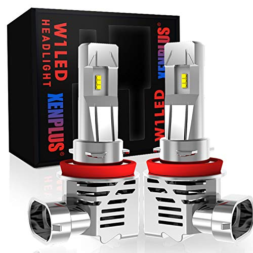 XENPLUS 2PCS H11 / H8 / H9 Led Headlight Bulbs, 55W 13000Lm Extremely Bright 100% Original ZES Chips Conversion Kit, 6500K Cool White, 2 Years Warranty