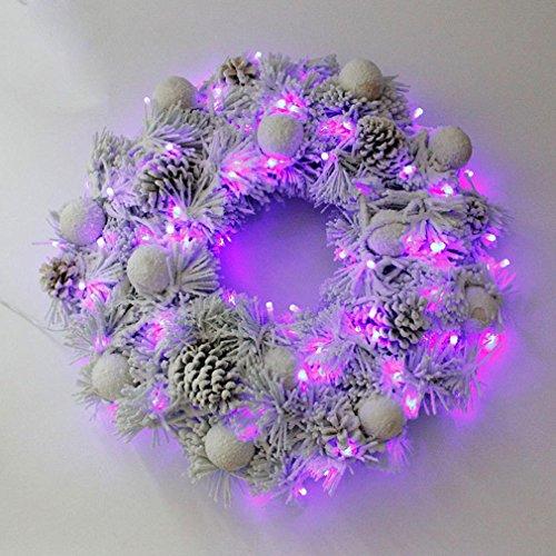 XY-QXZB Cadeaux de Noël de couronnes de Noël Ornements d'arbre de Noël
