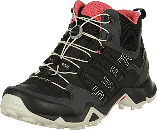 adidas outdoor Women's Terrex Swift R Mid GTX, Dark Grey/Black/Super Blush, 9.5 B - Medium