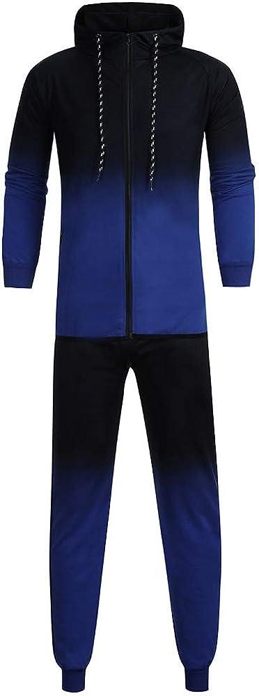 AKIMPE Men's Autumn Winter Camouflage Sweatshirt Top Pants Sets Sports Suit Tracksuit