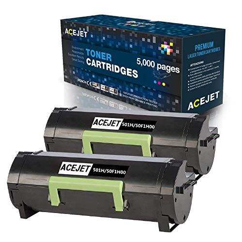ACEJET Remanufactured 501H 50F1H00 Toner Cartridge Replacement for Lexmark 50F1H00 501 Toner Work for MS312dn MS610dn MS310 MS510dn MS415dn MS310dn MS310d MS315dn MS410d MS410dn MS610de(Black,2-Pack)