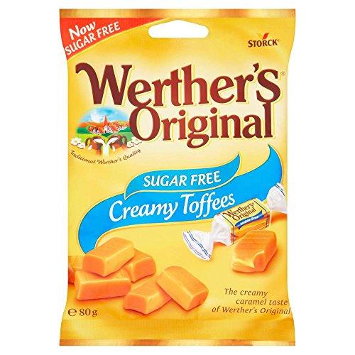 Werther's Original Zucker Frei Toffee, 80 g