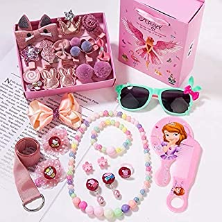Baby Hair Clips, 28 pcs Hair Styling Accessories for Girls Toddlers, Mini Cute Baby Girl Bows Hair Band Set (Korean pink)