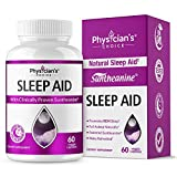 Sleep Aid with Valerian Root, Patented & Clinically Proven Suntheanine, 100% Natural, Insomnia Relief, Chamomile, Suntheanine & P5P Wake Up Feeling Rested, Sleeping Pills for Adults Extra Strength