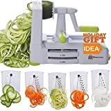 Brieftons 5-Blade Spiralizer (BR-5B-02): Strongest-and-Heaviest Duty...