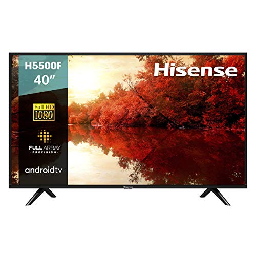 Hisense 40H5500F Android TV Smart TV 40', 1080p, Built-in Wi-Fi, 2019, Color Negro