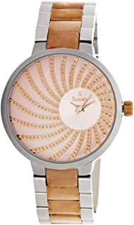 Women's watch, brand Sunex, analog, stainless steel, rose gold, rose dial