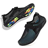 CIOR Boys & Girls Water Shoes Quick Drying Sports Aqua Athletic Sneakers Lightweight Sport Shoes(Toddler/Little Kid/Big Kid) U1ELJSX006-Black-34