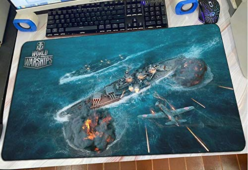 Gaming Mouse Pads World of Warships Mouse Pad Popular Gaming Mousepad Anime Office Notbook Desk Mat Large Padmouse Games Pc Gamer Mats E(40×90Cm)